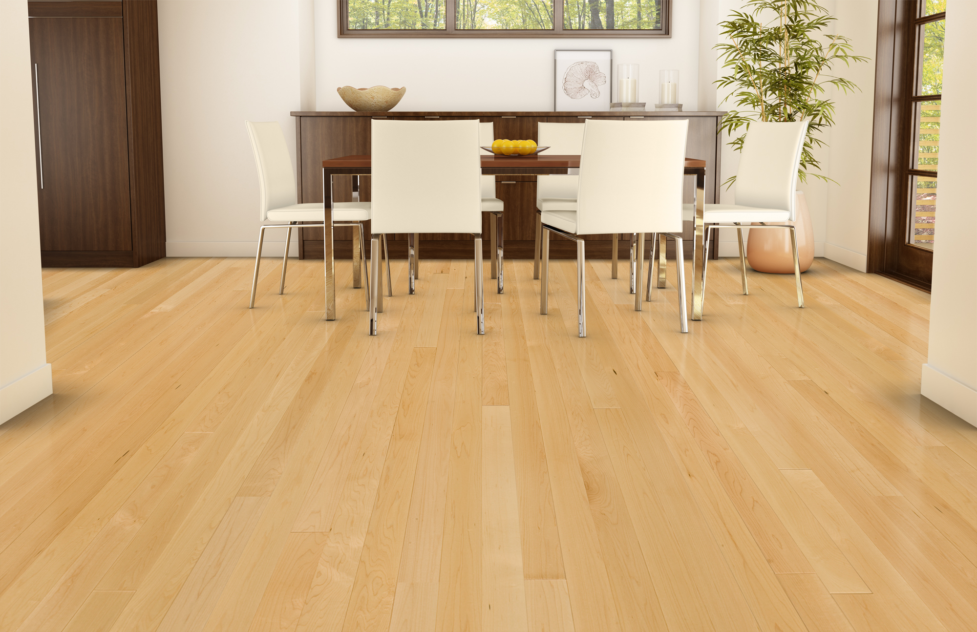 Natural ambiance hard maple select better lauzon for Maple flooring