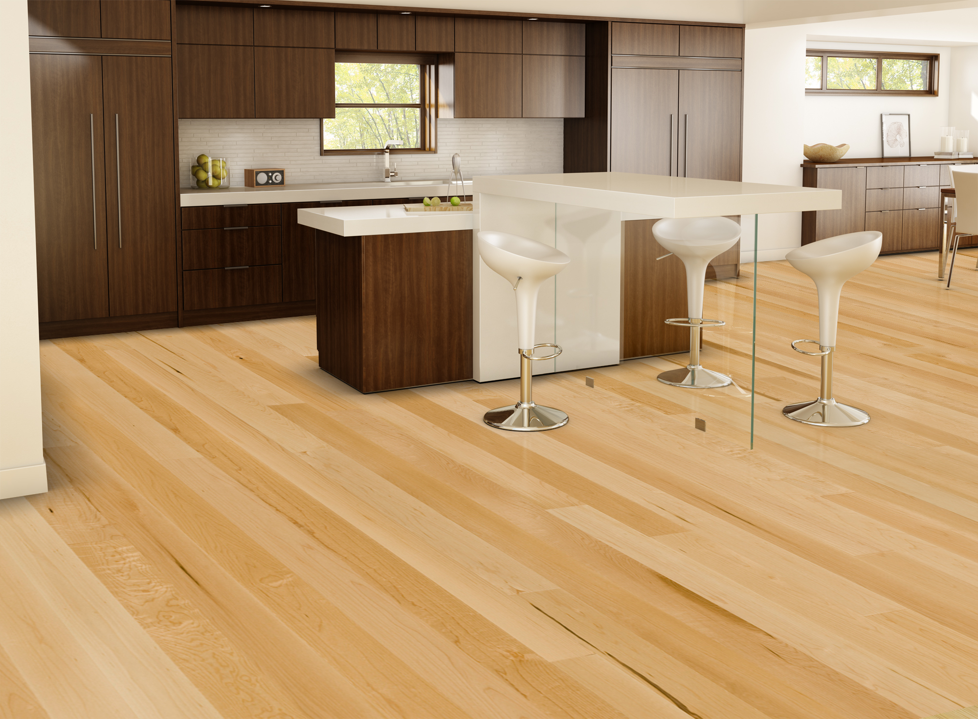 Natural, Ambiance, Hard Maple, Exclusive - Lauzon Hardwood Flooring