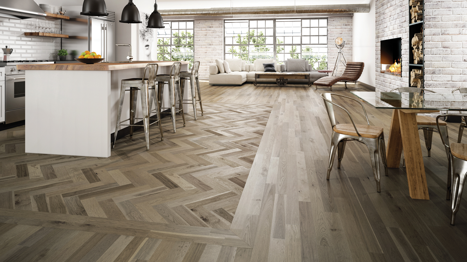 Choosing the best kitchen wood floor for your home for Homes with hardwood floors
