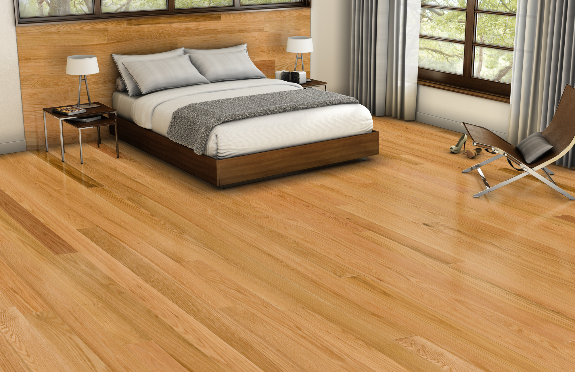 Red Oak Hardwood Flooring Natural Exclusif Ambiance Lauzon