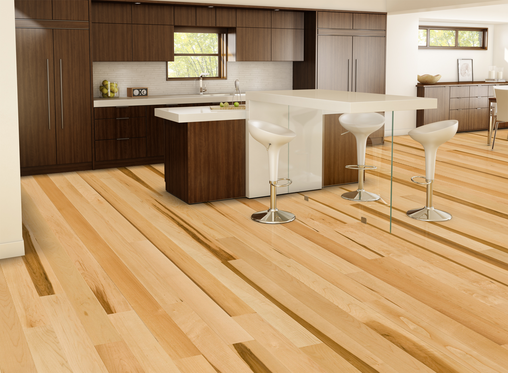 Natural essential hard maple tradition lauzon for Hard laminate flooring