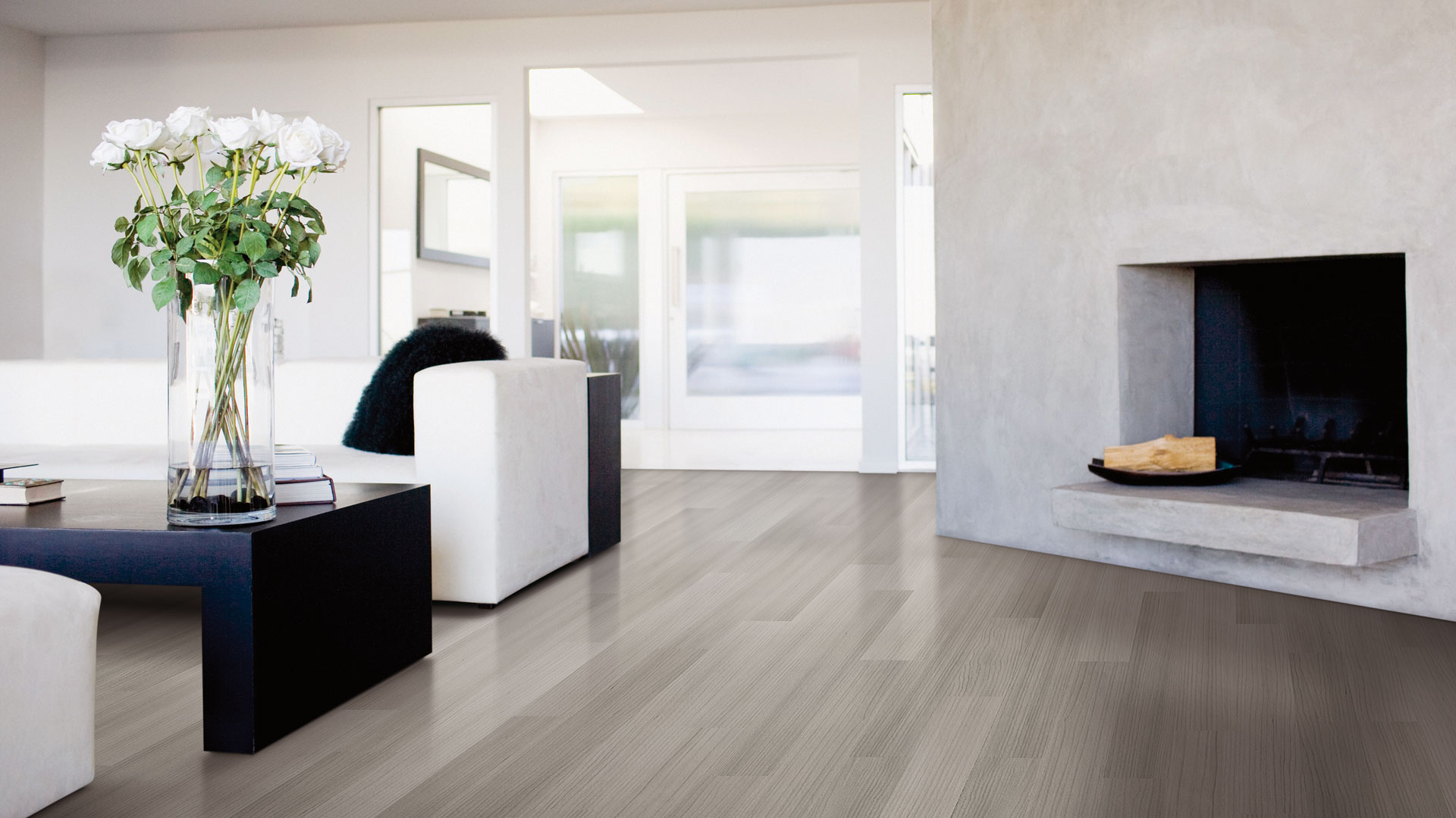 ... Lauzon Flooring Hardwood Blog Art From Nature Grey Linear Living Room